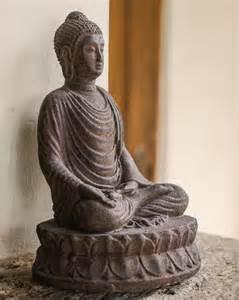 Lotus Statue Garden Buddha On A Lotus Blossom Statue The Buddha Garden