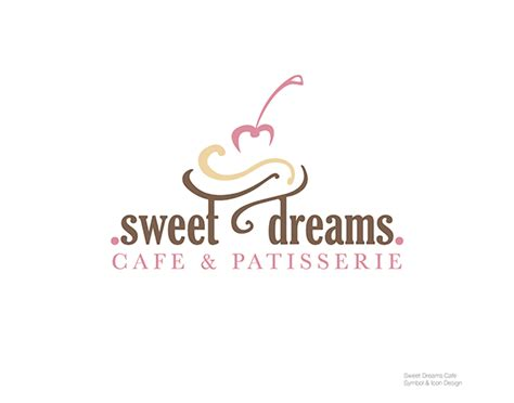 logo design for dreams sweet dreams cafe and patisserie logo design on behance