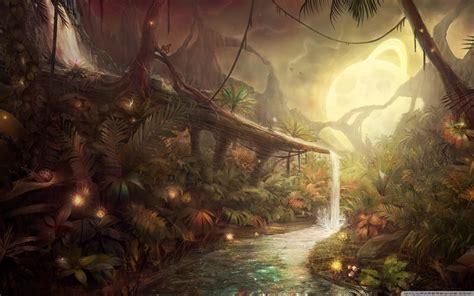 fantasy art wallpaper 2560x1600 75367 enchanted alien forest full hd wallpaper and background