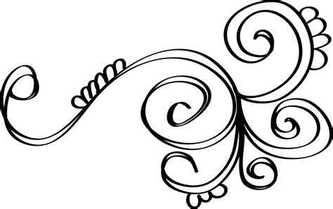 free coloring pages of swirls and flowers