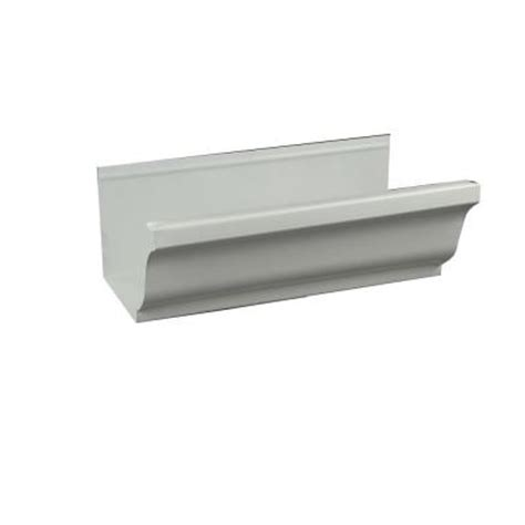 6 in aluminum white gutter 6krtw10 the home depot