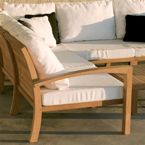outdoor teak sectional teak outdoor sectional sofa outdoor sofas chicago by