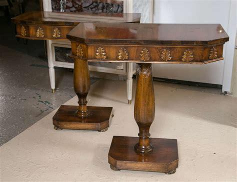 pedestal console table rectangular pedestal console