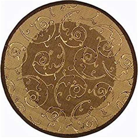 rugs 5 diameter safavieh courtyard collection cy2665 3009 brown and indoor outdoor