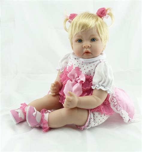 silicone love doll 22 inch 55 cm silicone baby reborn dolls children s toys