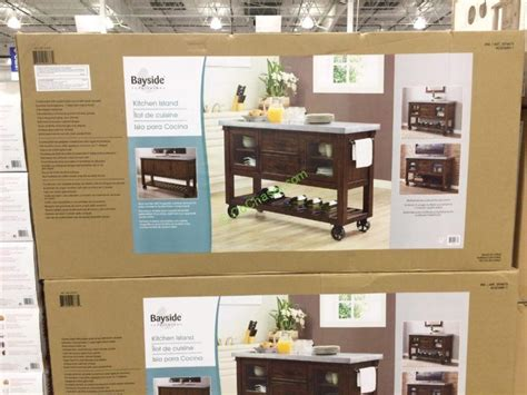 costco kitchen island costco 1074673 bayside furnishings kitchen island console