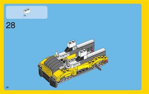 Lego Creator 3 In 1 31046 Fast Car Set Motorcar Truck Forklift Tractor lego fast car 31046 creator
