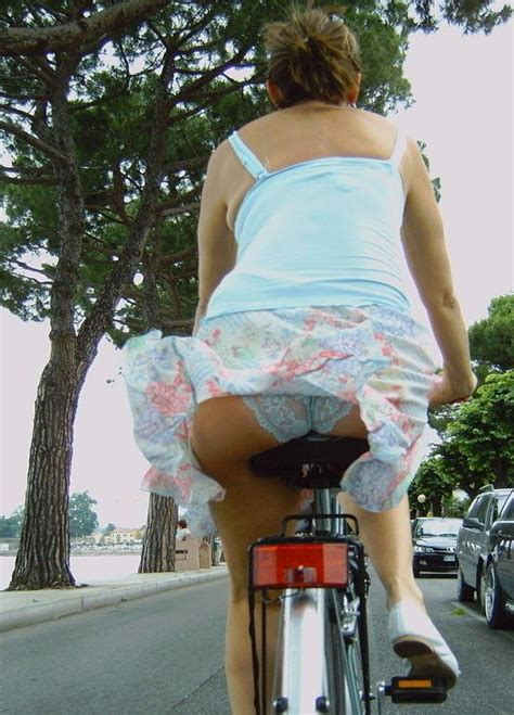 Woman In Skirts On Bicycles Motorcycle Review And Galleries