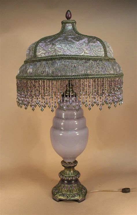victorian l shades with beaded 17 best images about lamps vintage beaded victorian on