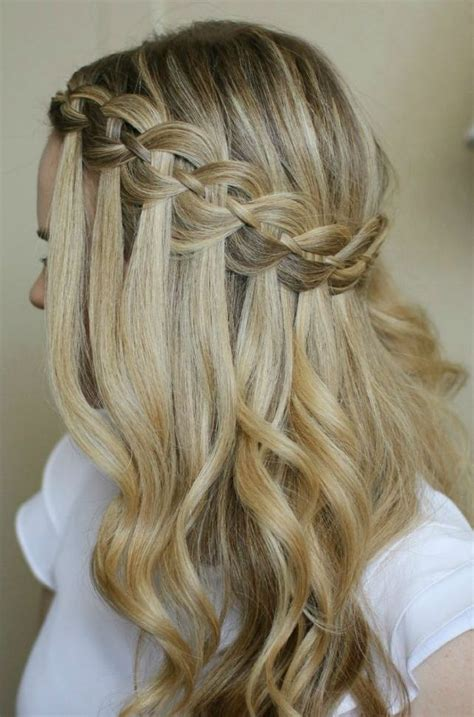 waterfall braid boys and did you wear a veil with your hair show me your