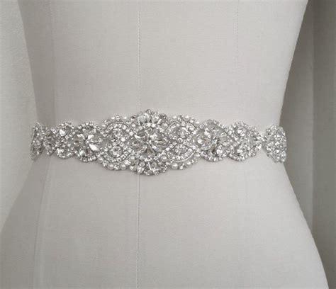 Wedding Bridal Sash Belt, Crystal Pearl Wedding Dress Sash