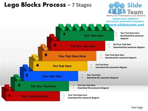 Lego Blocks Process 7 Stages Powerpoint Slides Ppt Templates Building Blocks Powerpoint Template