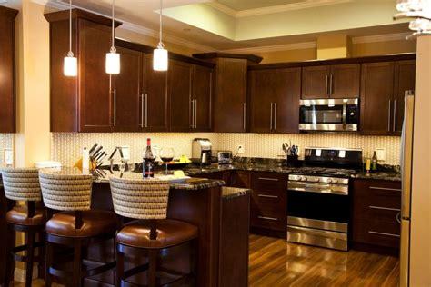 Cute Dark Brown Color Mahogany Wood Kitchen Cabinets Comes Black And Wood Kitchen Cabinets