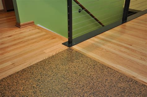 cork flooring meets wood contemporary kitchen seattle by ventana construction llc