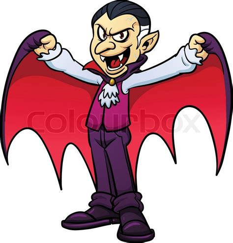 Cape Home Plans by Cartoon Vampire Vector Illustration With Simple Gradients