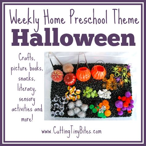halloween themes for daycare cutting tiny bites halloween theme weekly home preschool