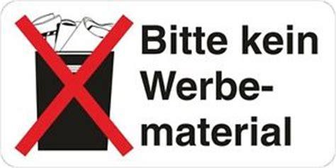 Bitte Keine Werbung Aufkleber Post by Stop Bitte Kein Werbematerial Werbung Post Brief 10x