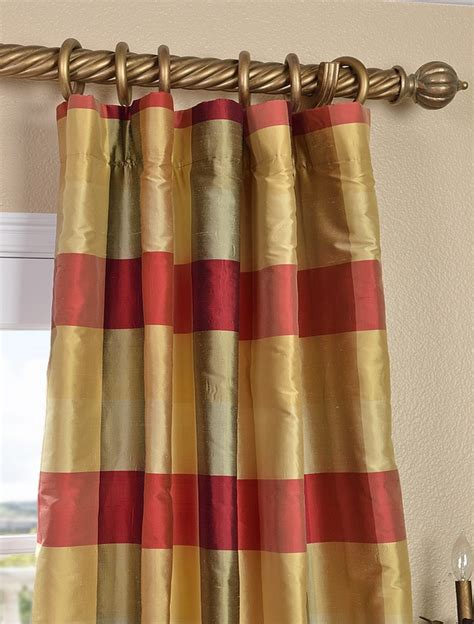 plaid silk curtains 47 best ideas about drapes on pinterest brown bedding