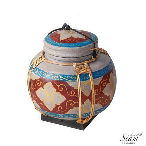 Handmade Rice Box - handmade bamboo wooven thai rice box siam sawadee