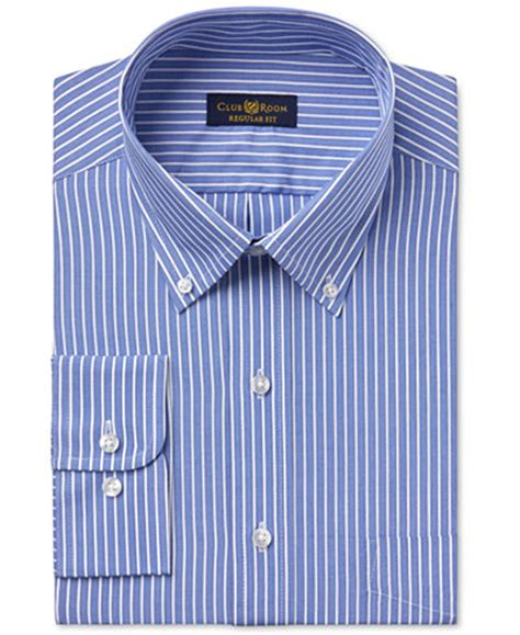 club room dress shirts club room estate s wrinkle resistant classic blue stripe dress shirt only at macy s dress