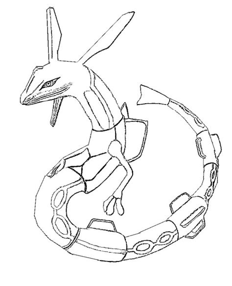 Free Coloring Pages Of Mega Kyogre Rayquaza Coloring Pages