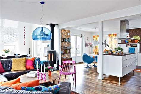 colorful home decor in sweden