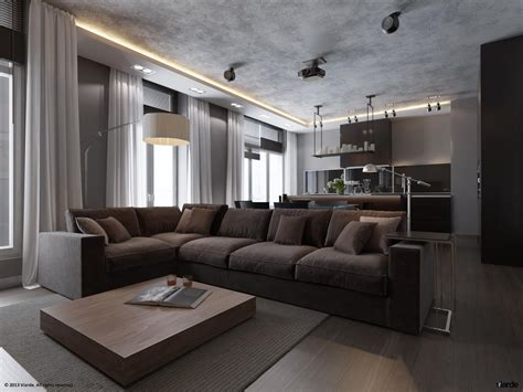 grey home interiors 3 plush grey sofa interior design ideas