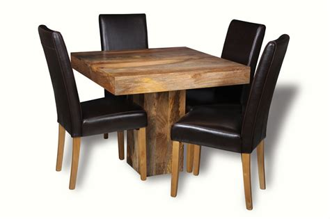 cube dining set with leather chairs light dakota 90cm cube dining table 4 leather chairs