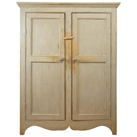 Armoire Canada by Painted Two Door Canadian Armoire At 1stdibs