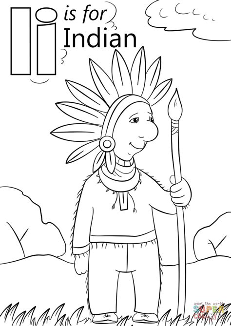 letter i is for iguana coloring page free printable letter i is for indian coloring page free printable