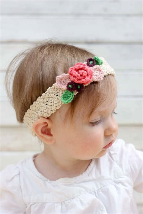 free pattern headband crochet free crochet flower headband pattern baby toddler adult