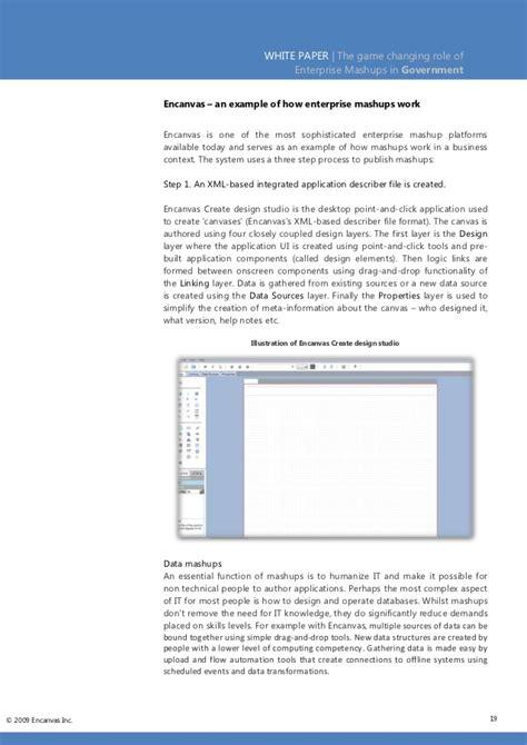 White Paper Enterprise Mashups In Government Government White Paper Template