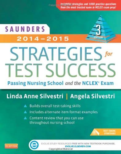 nursing school test best nclex guide saunders strategies for test success