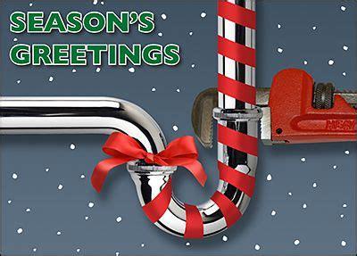 plumber greeting card customize  ziti cards corporate christmas cards construction