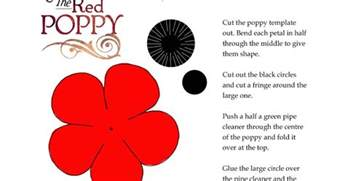 Poppy Printable Template by Fifi Colston Creative Remembrance Poppy Template
