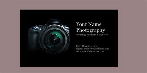 card templates for photographers 2012 10 free photography business cards
