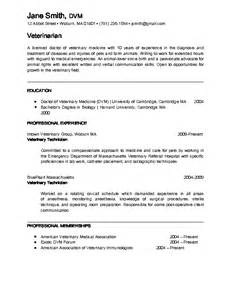 Curriculum Vitae Veterinarian by Veterinarian Resume Berathen Com