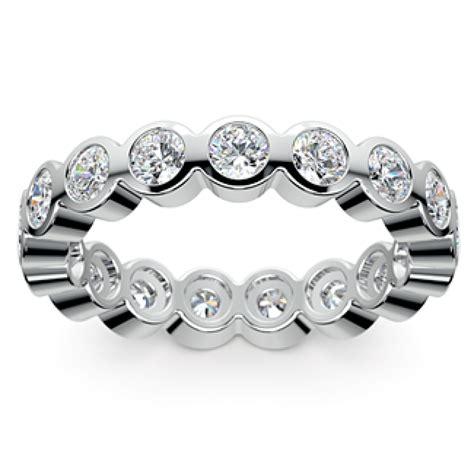 2 50 ct bezel set cut eternity wedding band ring