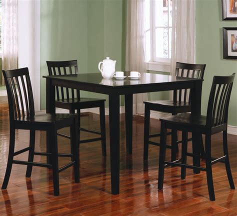 Dining Table Set Black Square Black Counter Height Dining Table Set