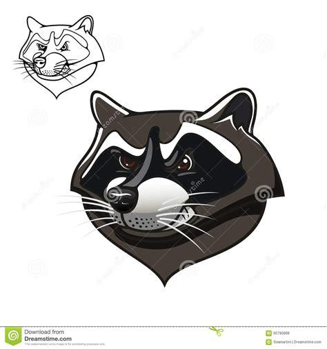 cartoon raccoon tattoo angry cartoon raccoon mascot on white stock vector image