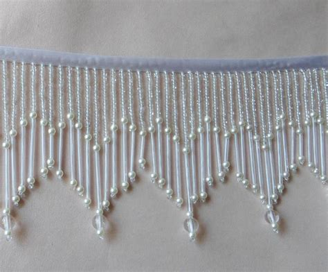 beaded fringe trim beautiful 3 1 2 quot glass beaded fringe trim 401 ebay