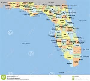 mapa condado de la florida ilustraci 243 n vector