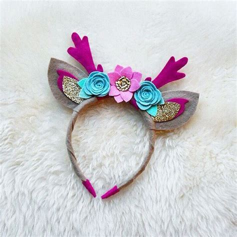 Headband Handmade - las cornamentas de los ciervos con orejas hecho a mano