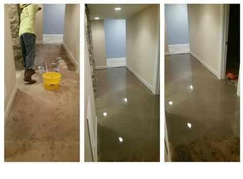 Uneven Basement Floor That Was Self Leveled