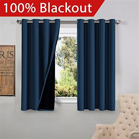 silk drapes with blackout liner flamingop full blackout navy curtains faux silk satin with