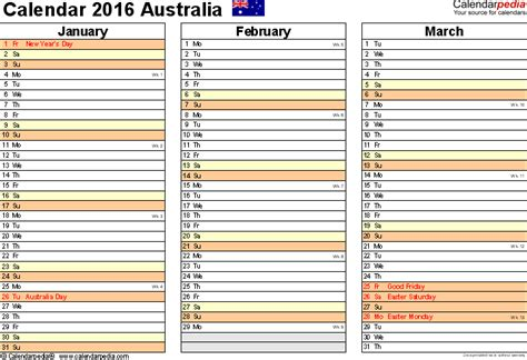 Cat Calendar 2018 Australia 4 Months On One Page Calendar Template Autos Post