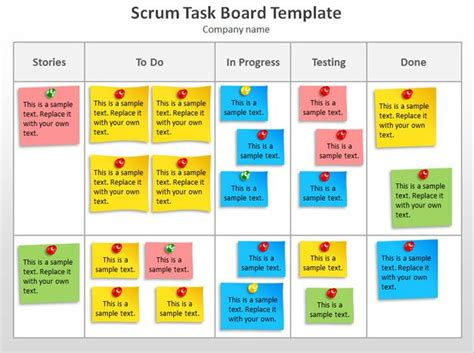 Scrum Task Board Template Powerpoint Jpg 627 215 468 Agile Project Management Pinterest Agile Project Management Templates Free
