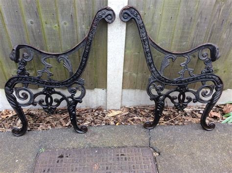 antique cast iron garden bench ends original cast iron garden bench ends
