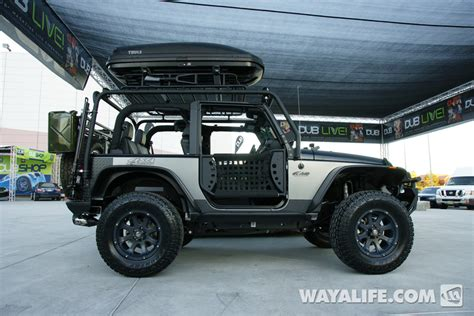 2012 Sema Kao Custom Black Silver 2 Door Jeep Jk Wrangler