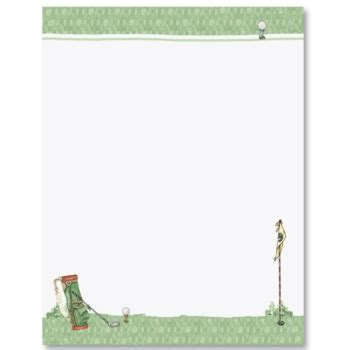 free printable golf stationery custom golf letterhead paperdirect